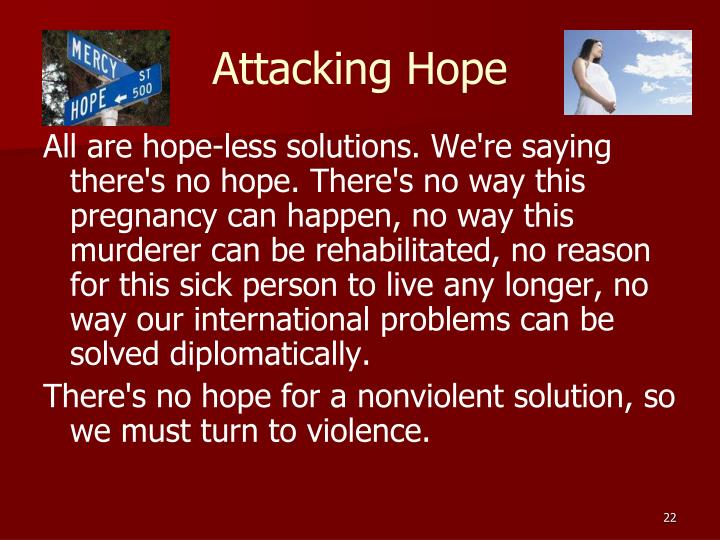 Attacking Hope