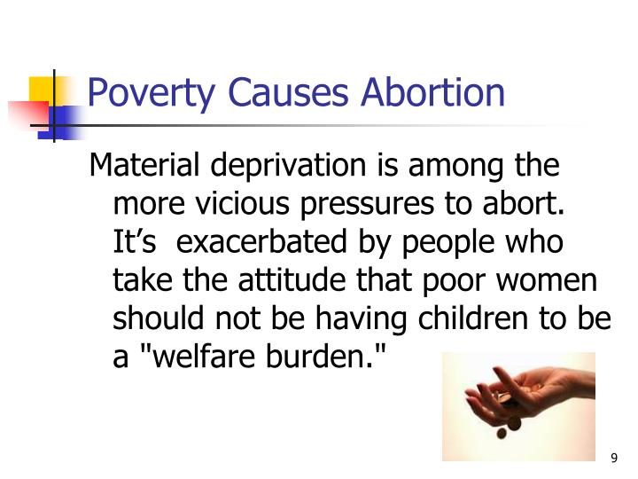 Poverty Causes Abortion
