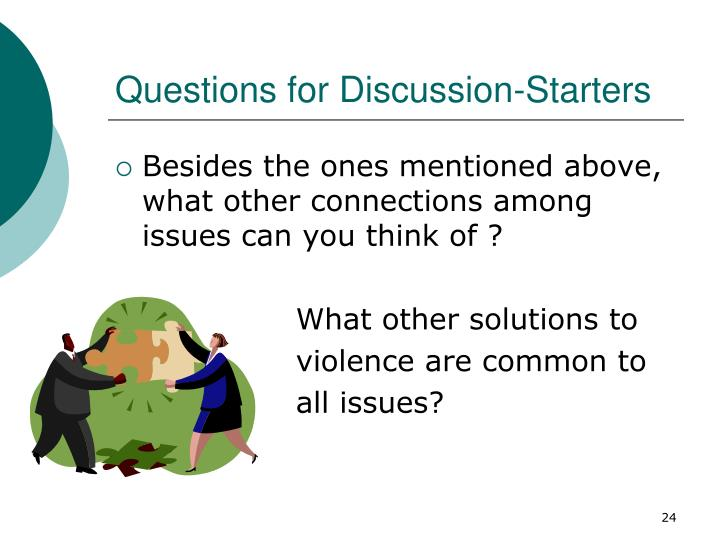 Questions for Discussion-Starters