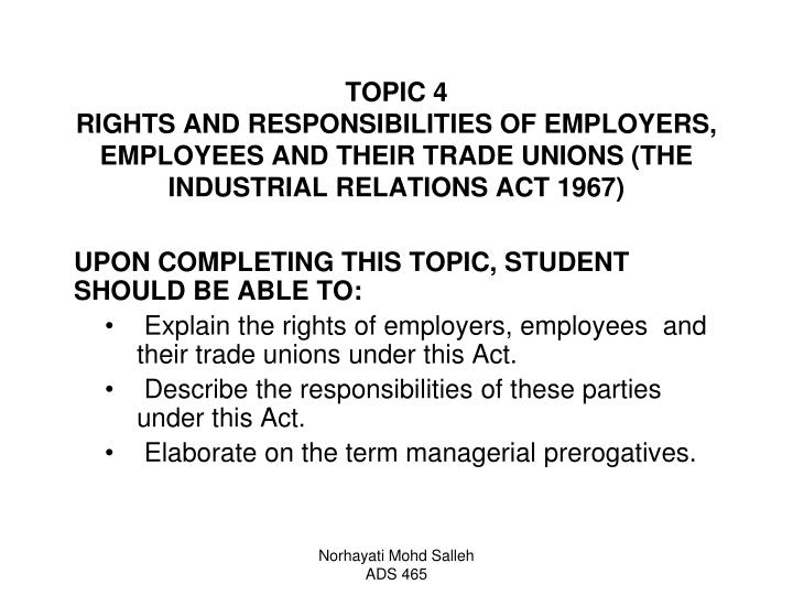 the rights and responsibilities of employers and employees essay Employee rights and employee responsibilities - essay of the employees, including the rights to employee rights and employee responsibilities.