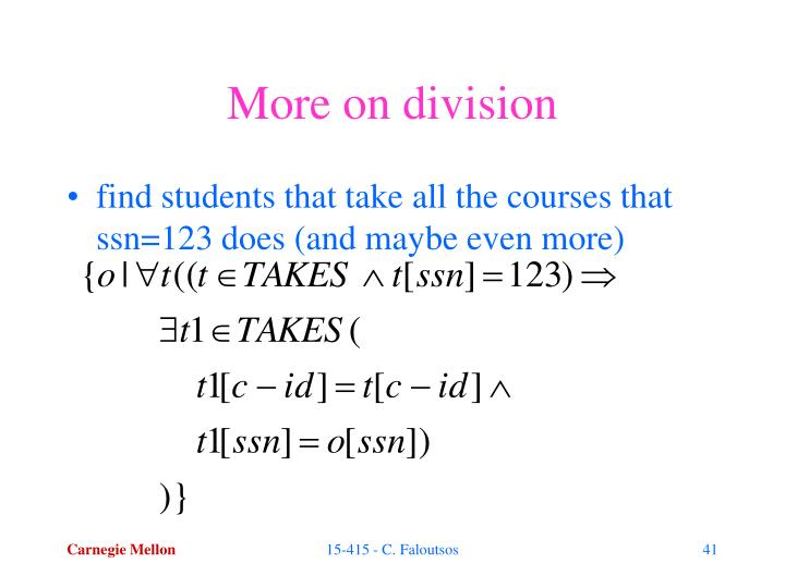 More on division