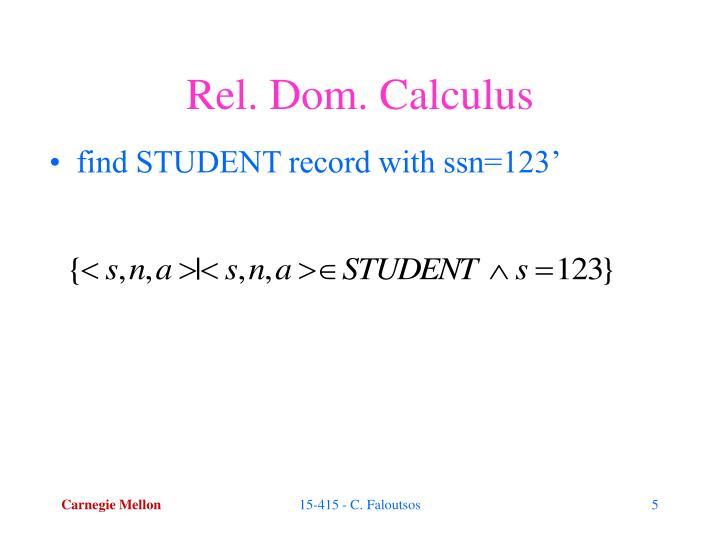 Rel. Dom. Calculus