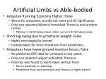 artificial limbs vs able bodied