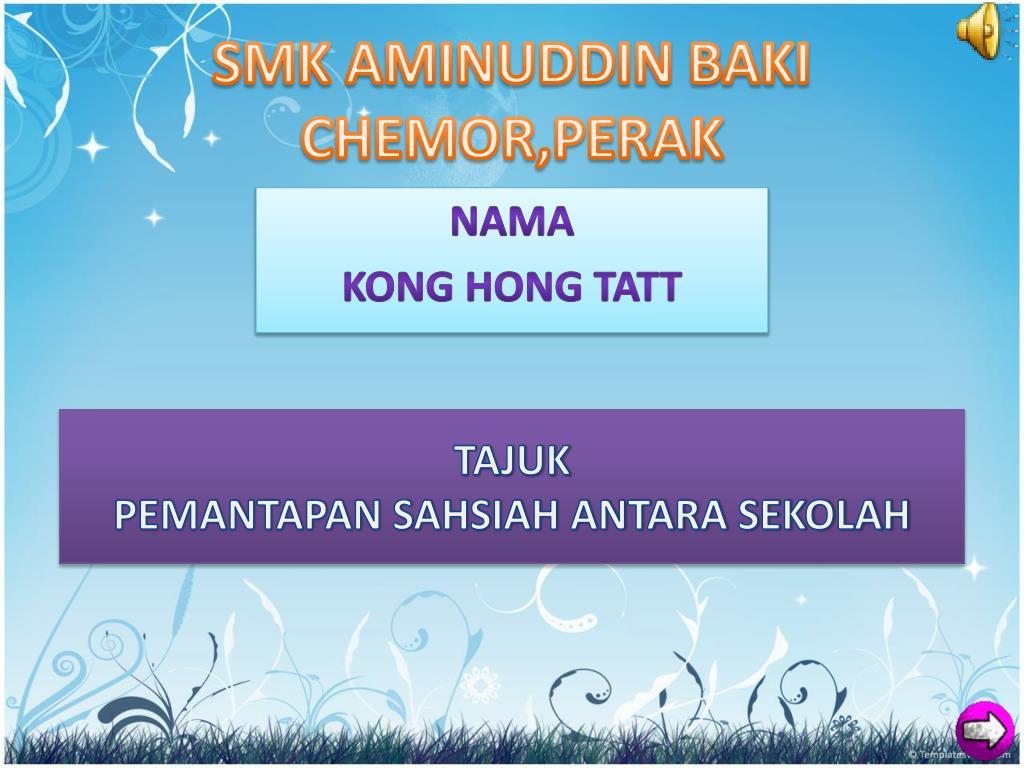 smk aminuddin baki chemor perak l.