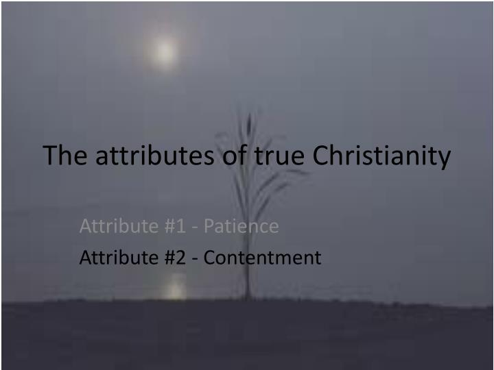 the attributes of true christianity n.