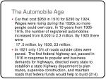 the automobile age