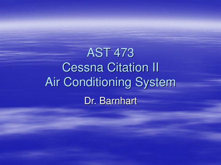 ast 473 cessna citation ii air conditioning system n.