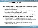 value of sdm