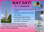 may day pt 2 maibaum