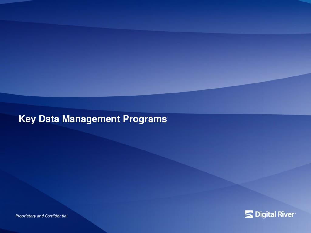 Key Data Management Programs