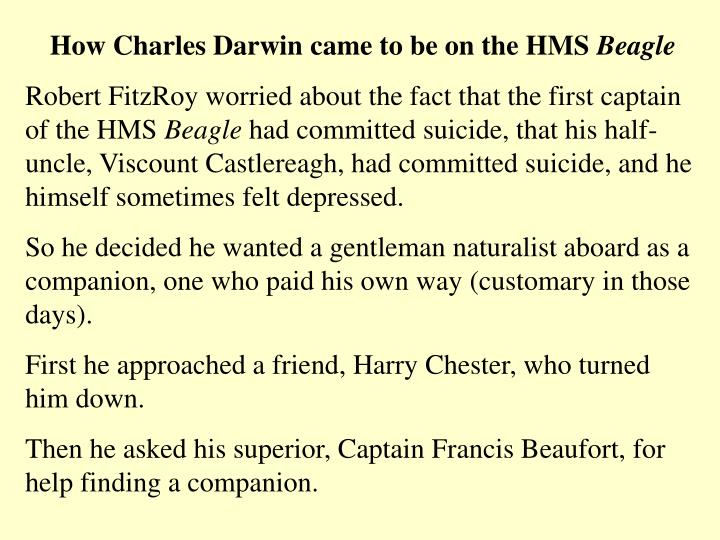 How Charles Darwin came to be on the HMS