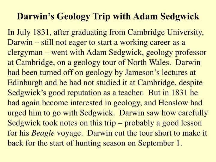 Darwin's Geology Trip with Adam Sedgwick