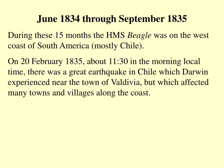 June 1834 through September 1835