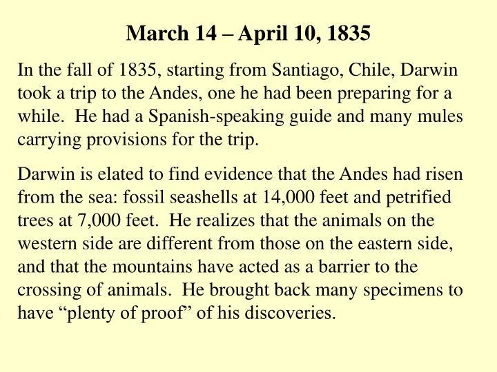 March 14 – April 10, 1835