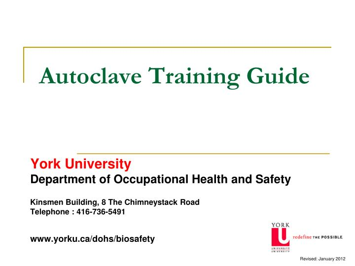 autoclave training guide