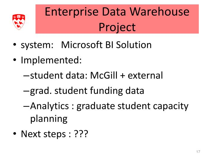 Enterprise Data Warehouse Project