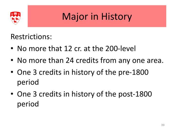 Major in History