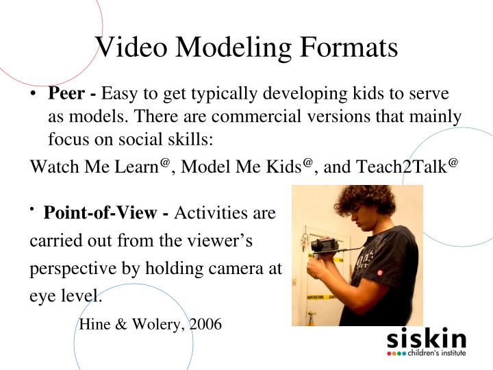 Video Modeling Formats