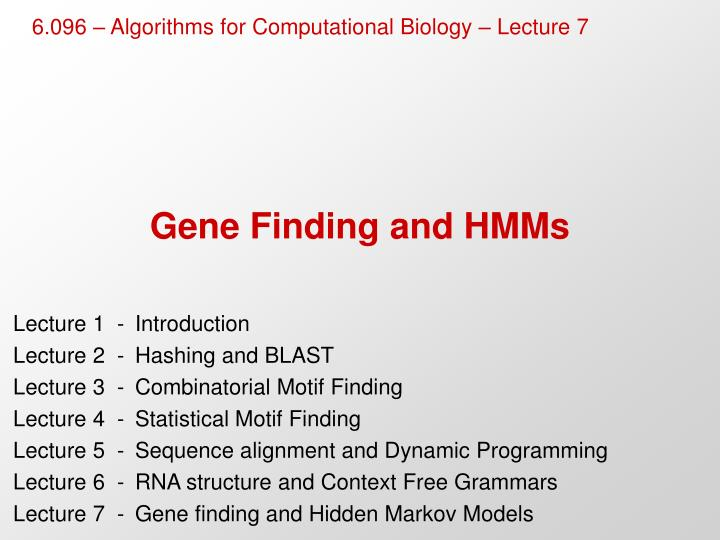 gene finding and hmms n.