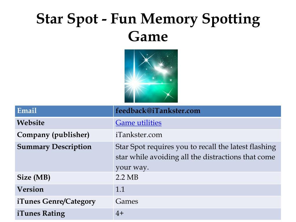 Star Spot - Fun Memory Spotting Game