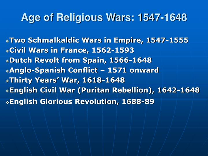 age of religious wars 1547 1648 n.