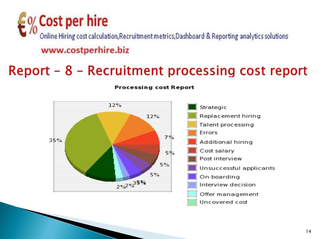 Report – 8 – Recruitment processing cost report