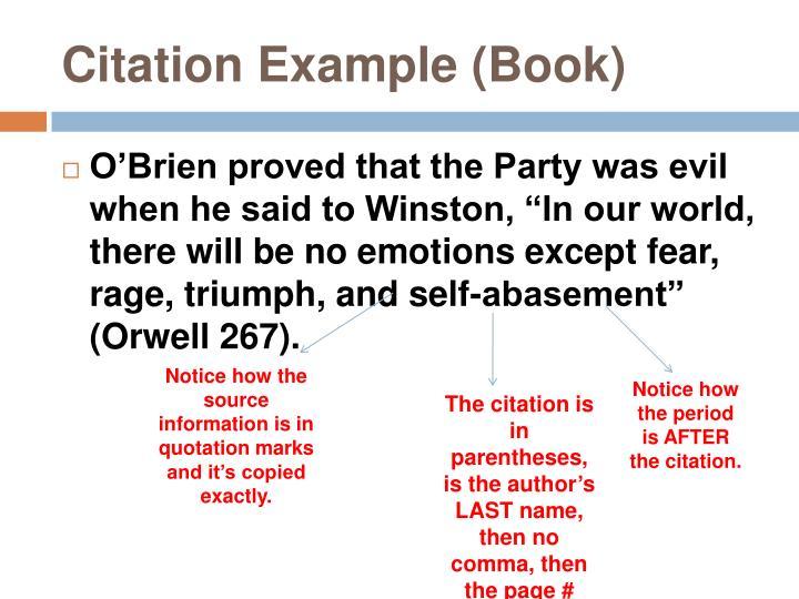Citation Example (Book)