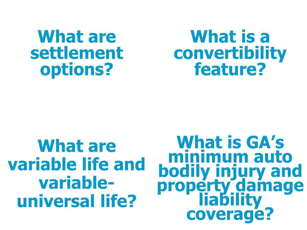 PPT - Test your insurance knowledge! Match the questions ...