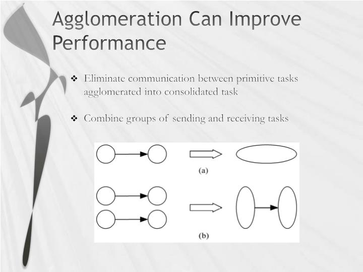 Agglomeration Can Improve Performance