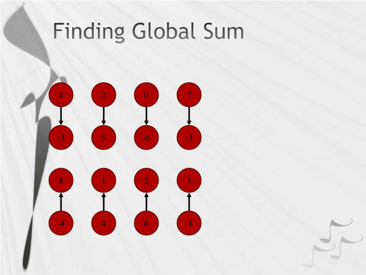 Finding Global Sum