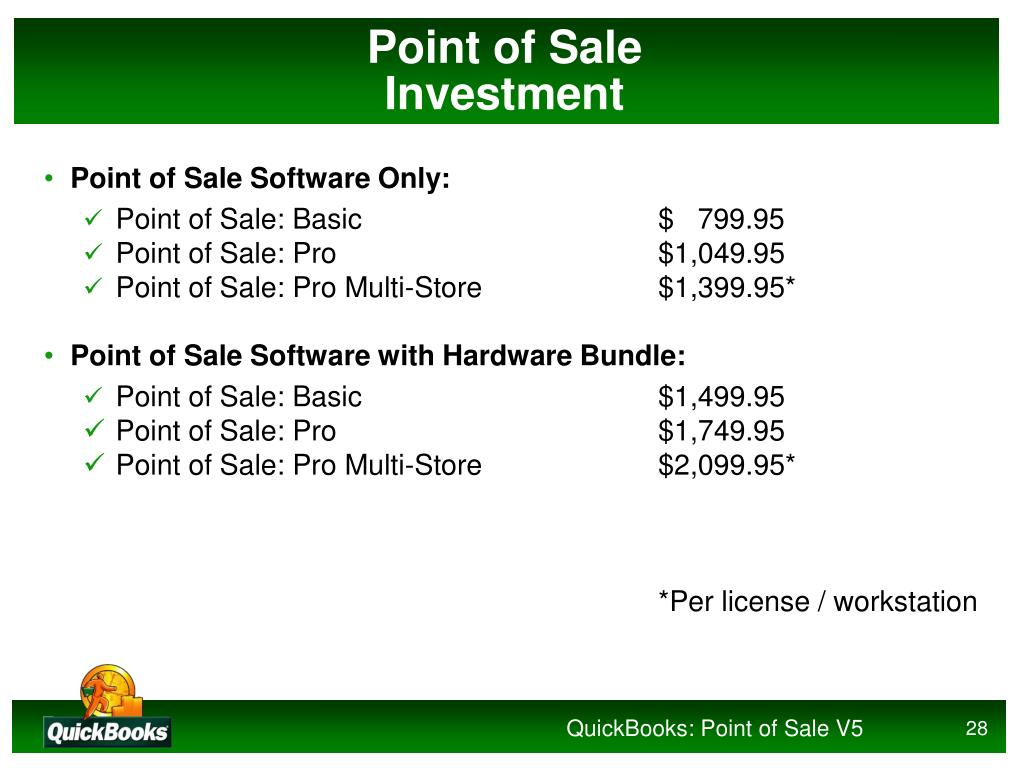 PPT - QuickBooks: Point of Sale 5 0 PowerPoint Presentation - ID:973475