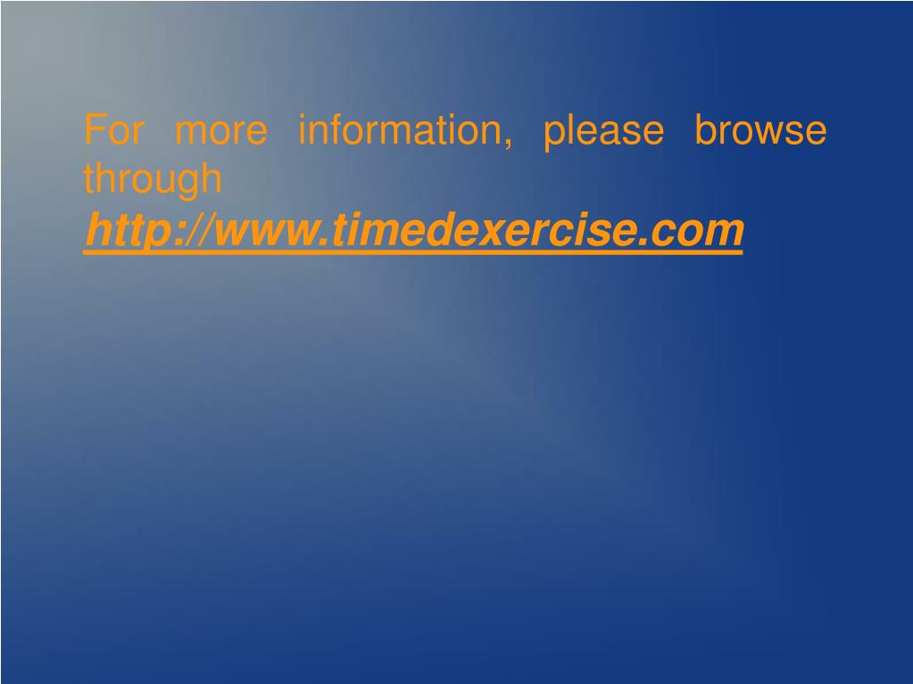 For more information, please browse through