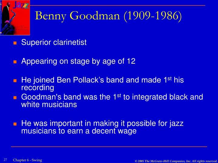 Benny Goodman (1909-1986)