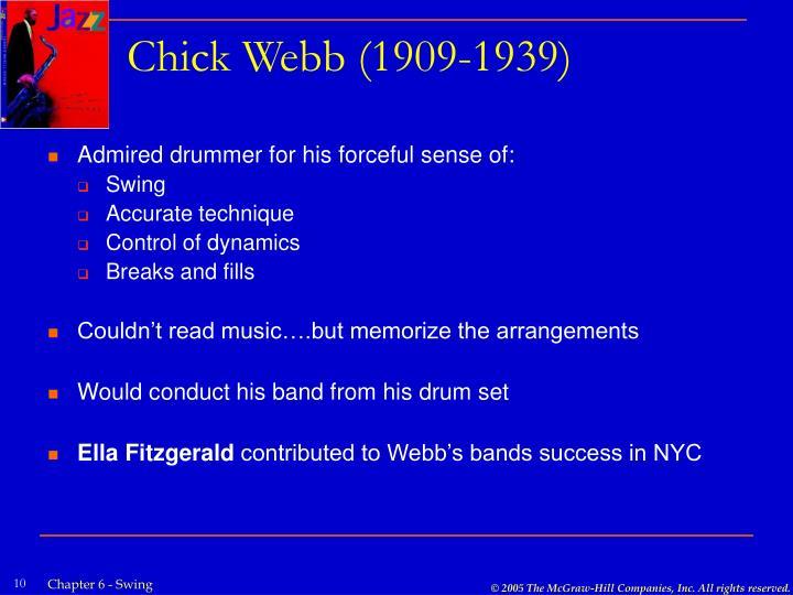 Chick Webb (1909-1939)