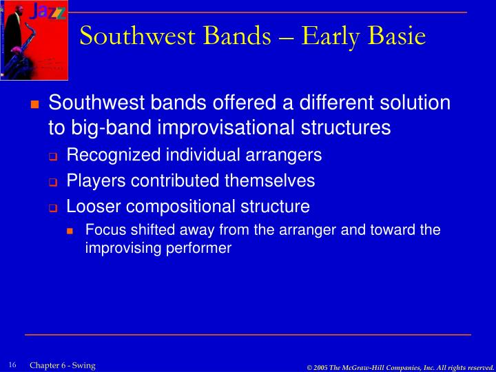 Southwest Bands – Early Basie