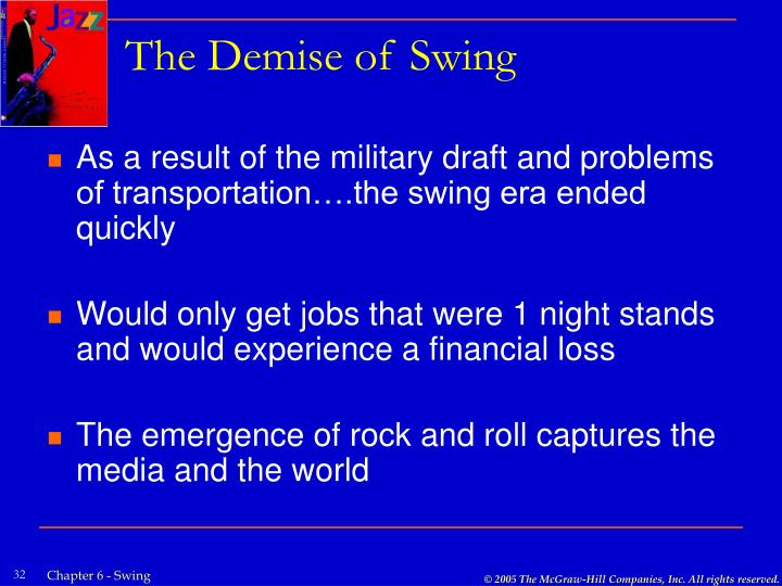 The Demise of Swing