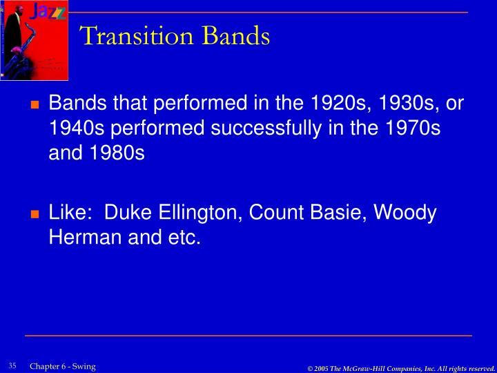 Transition Bands