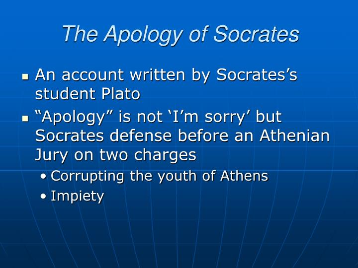 socrates influence on the people of athens in the apology of socrates by plato