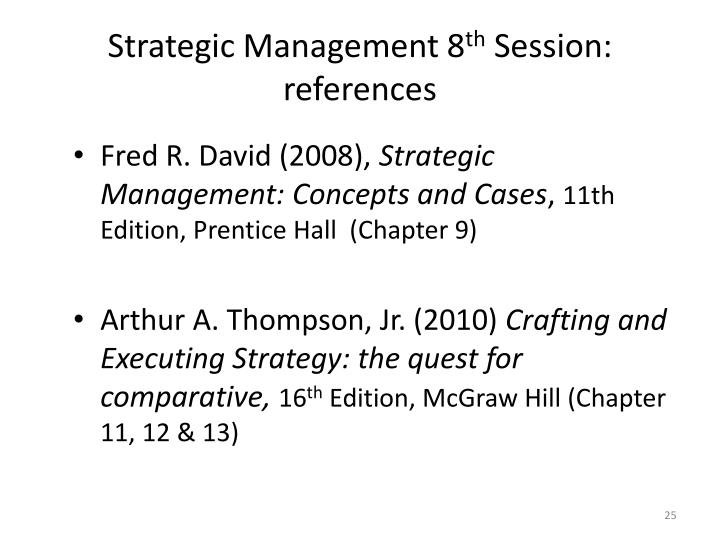 Crafting And Executing Strategy Thompson Ppt