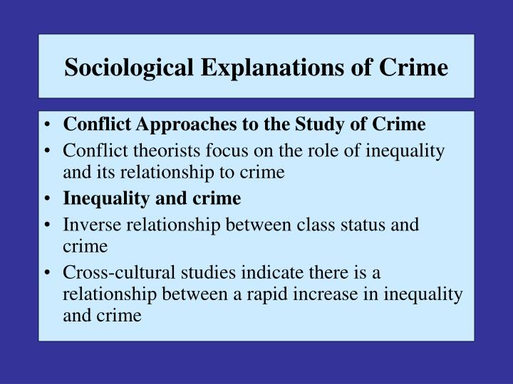 explanations of crime