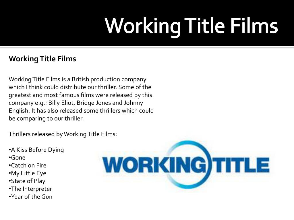 Working Title Films