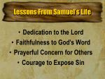 lessons from samuel s life
