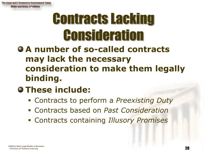 Contracts Lacking Consideration