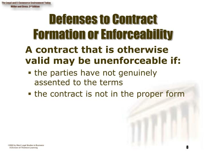 Defenses to Contract