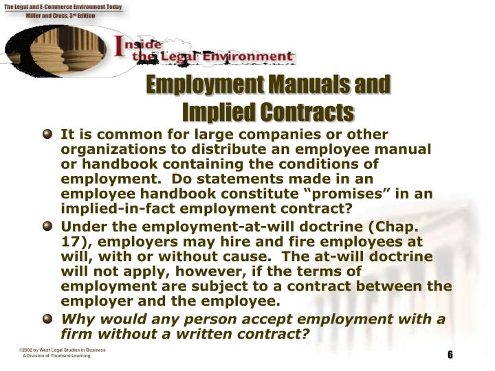 Employment Manuals and