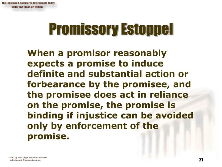 Promissory Estoppel