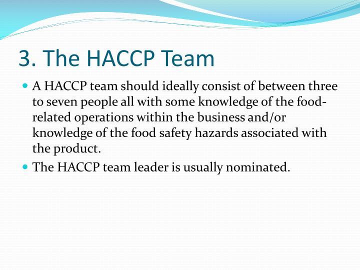 3. The HACCP Team