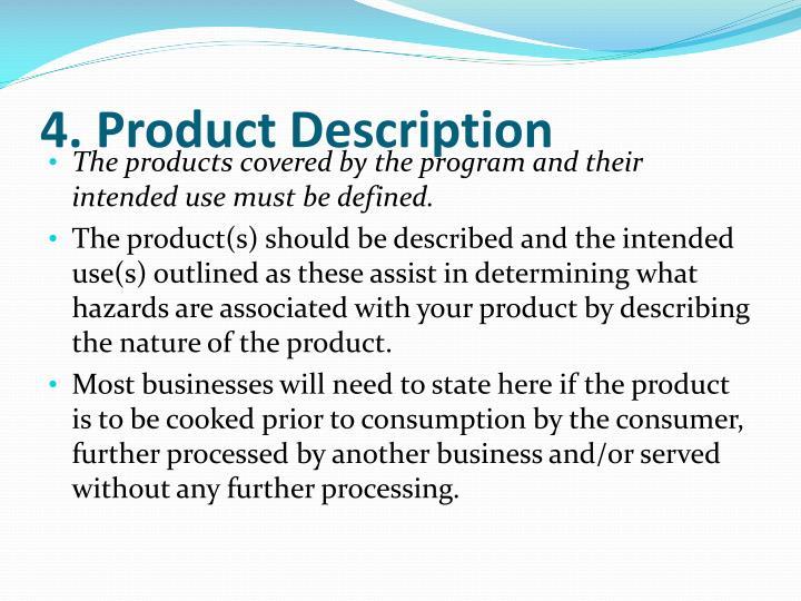 4. Product Description