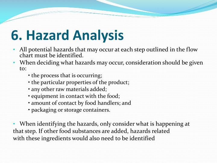6. Hazard Analysis