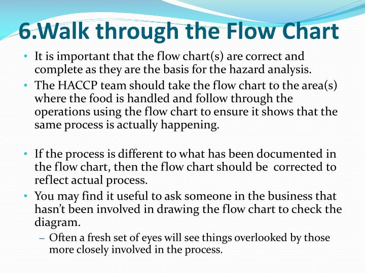 6.Walk through the Flow Chart